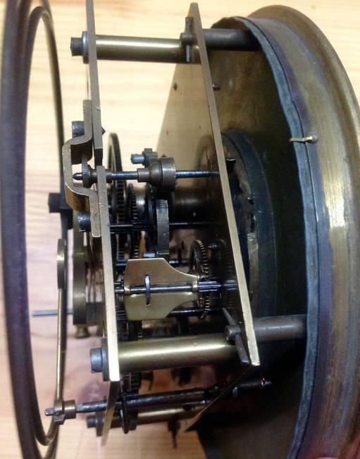 старинные гиревые настенные часы Gustav Becker