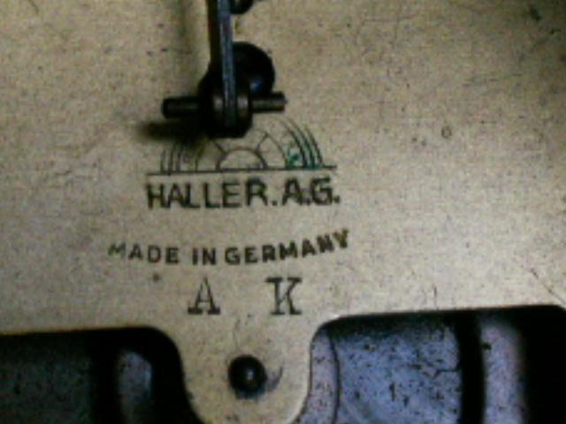Настольные старинные часы с боем Thomas Haller A.G.