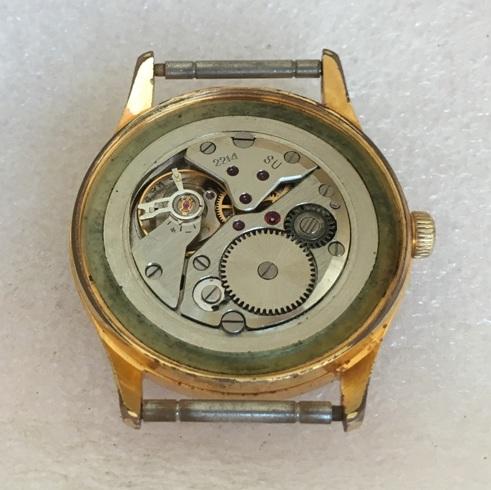 Мужские наручные часы Восток СССР 18 камней в позолоте