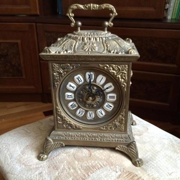 часы каминные в литом латунном корпусе - классика