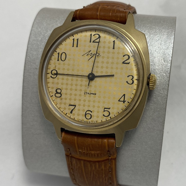Мужские наручные часы Луч СССР позолота