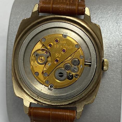 Мужские наручные часы Луч СССР позолота с золотистым циферблатом