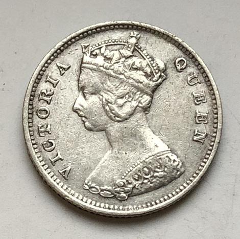 монета 10 центов Гон Конг 1901 год