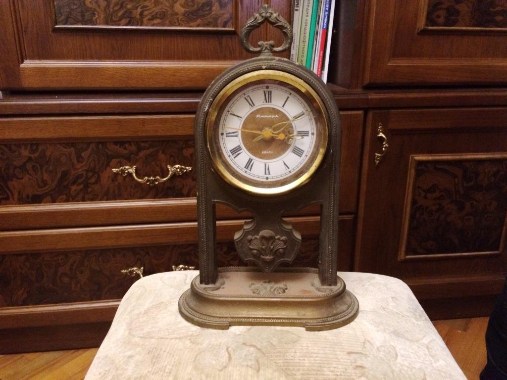 Настольные часы Янтарь кварц