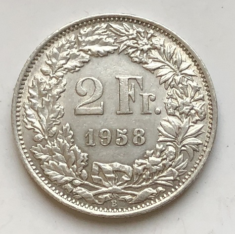 Редкая монета Швейцарии серебро