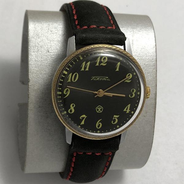 мужские часы Восток СССР позолоченные рифленые