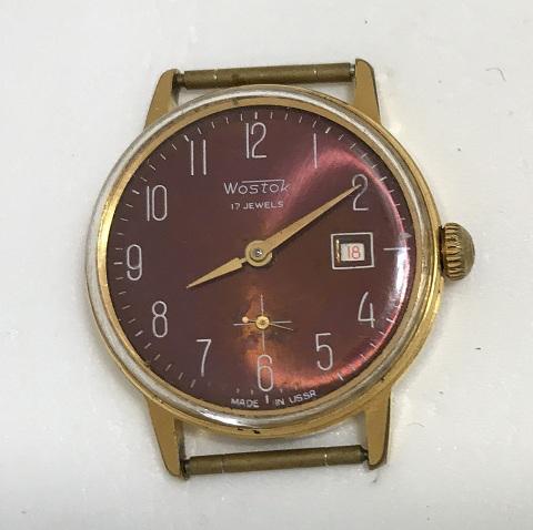 Мужские наручные советские часы Восток красные