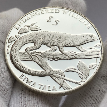 Серебряная монета 5 тала Токелау