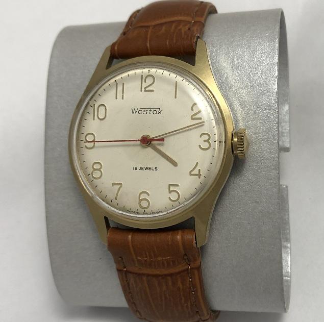 Наручные мужские часы Восток СССР 2209 позолоченные противоударные