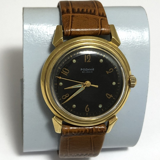 Наручные мужские часы ЗИМ СССР 15 камней позолоченные