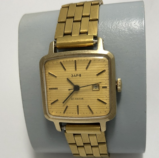 Мужские наручные часы Луч СССР позолоченные