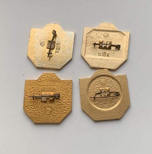 Мужские наручные часы Слава СССР косая 26 камней позолоченные