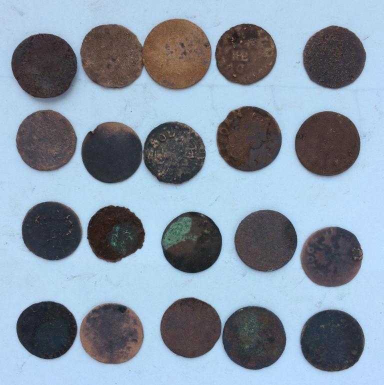 Комплект старых монеты средневековой Европы № 20