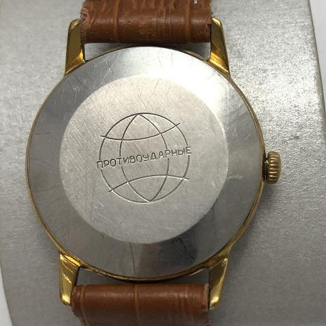 Мужские часы Ракета СССР черные в позолоте редкие