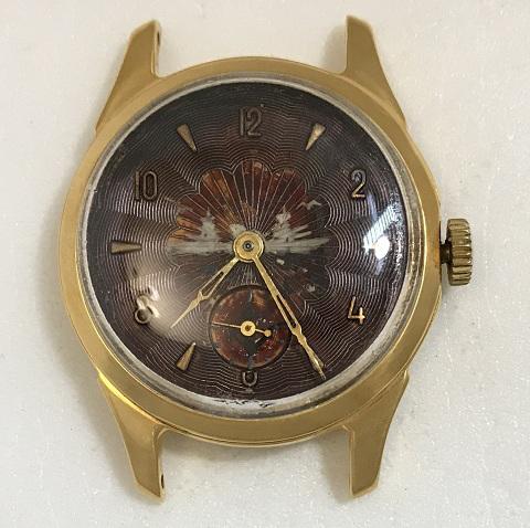 наручные часы Луч СССР позолота двухцветные в позолоте