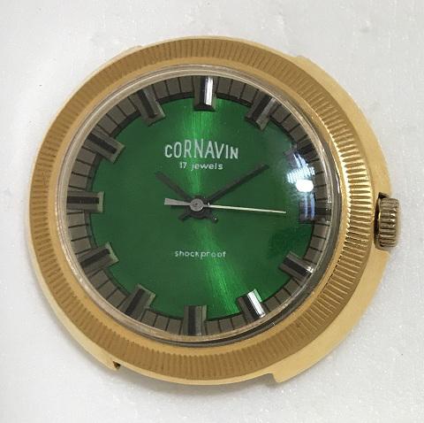 Мужские наручные часы Cornavin 17 камней СССР позолоченные