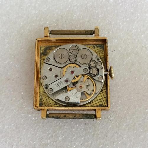 наручные часы Слава СССР квадратные позолоченные