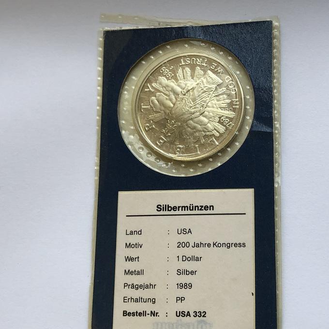 Один серебряный доллар США 200-летие Конгресса