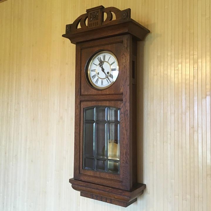 Старинные настенные часы E.R.Schlenker (Kienzle) начала 20 века