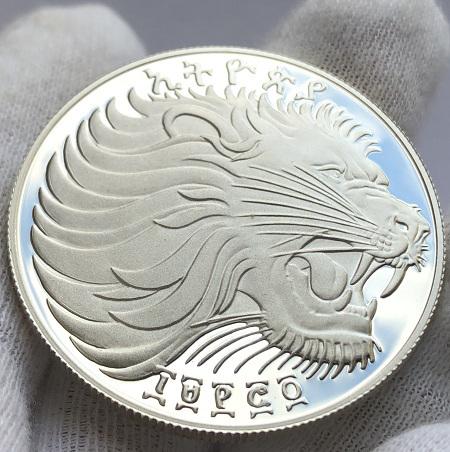 Серебряная монета Эфиопии