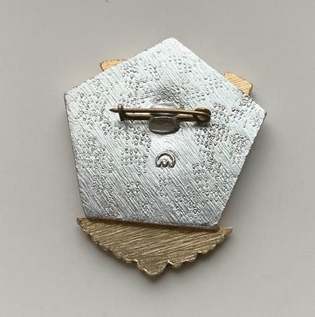 наручные часы Ракета СССР автоподзавод в позолоте коричневые