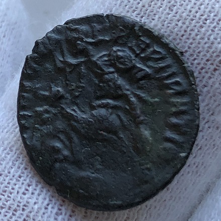 Монета древнего Рима Констанций 2 Никомедия