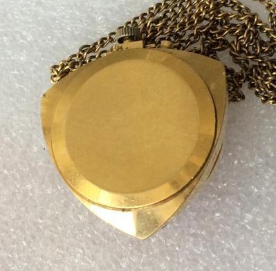 Женские часы кулон Заря СССР позолоченные
