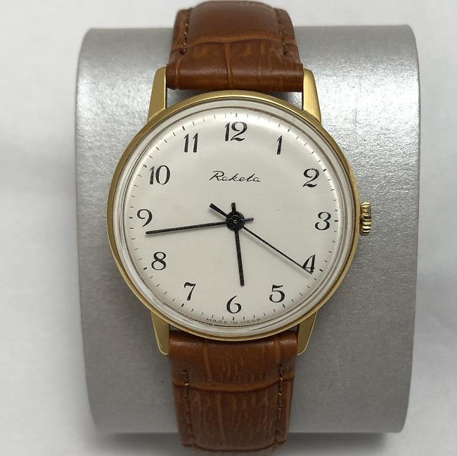 Наручные мужские часы Ракета СССР каменный циферблат
