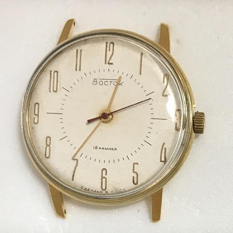 Мужские наручные часы Восток СССР механика в позолоте