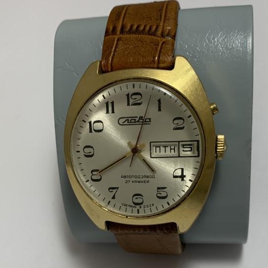 Женские часы кулон Чайка СССР позолоченные с цепочкой