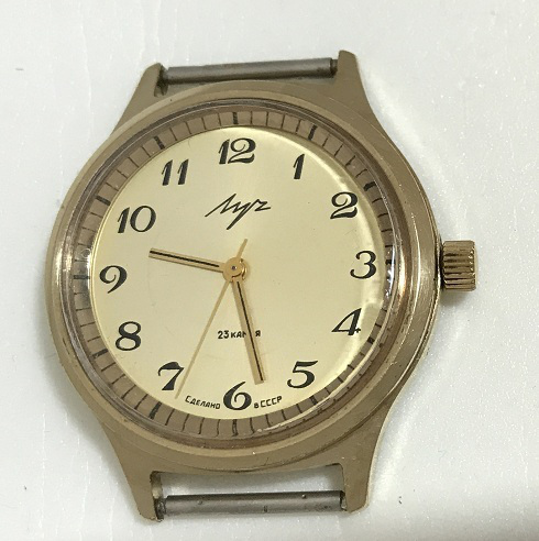 Мужские наручные часы Луч позолоченные СССР 23 камня