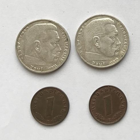 Комплект немецкие монеты третий рейх № 42