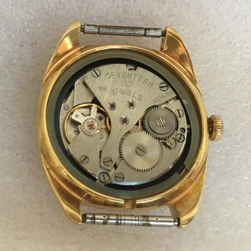 Мужские наручные часы Полет 17 камней позолоченные AU10