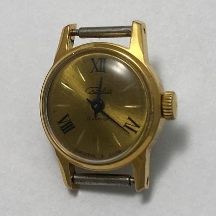 Мужские наручные часы Cardinal синие позолоченные