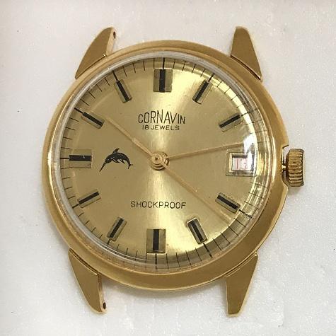 Мужские наручные часы Cornavin 18 jewels СССР позолоченные
