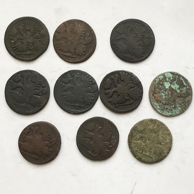 Комплект старых монеты царской России денга