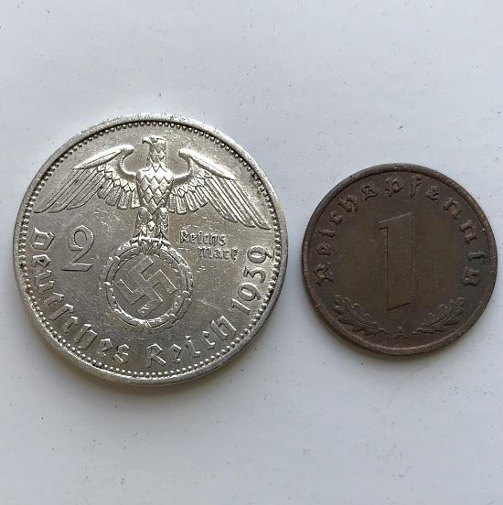 Комплект немецких монет третьего рейха