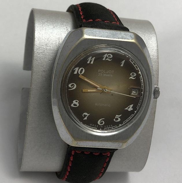 наручные часы Слава СССР автоподзавод 27 камней бордовые