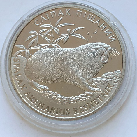 Монета Украины 2 гривны Слепак пещанный 2005 года