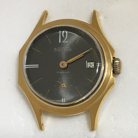 Мужские наручные часы Восток СССР 17 камней в позолоте