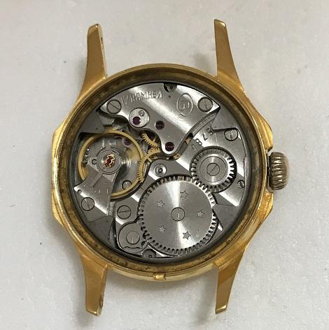 Мужские наручные часы Восток СССР синие 17 камней в позолоте