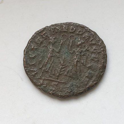 Монета древний Рим император Констант