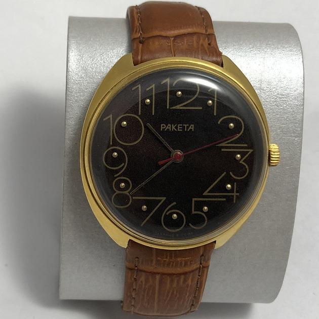 Мужские наручные часы Ракета СССР 2609 НА квадрат в позолоте