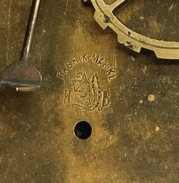 Старинные настенные часы H.Braukmann