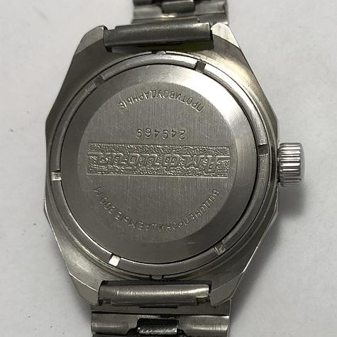 наручные часы Восток СССР бордовые рифленные
