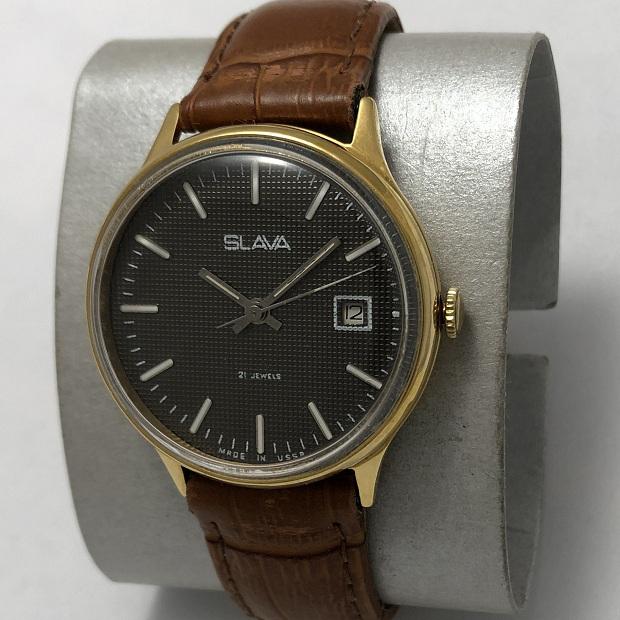 наручные часы ЗИМ СССР зеленые в позолоте редкие