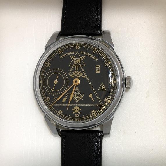часы Полет Сигнал позолоченные