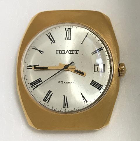 Отличный винтажный экземпляр мужскиех наручных советских часов Полет (1 МЧЗ) в