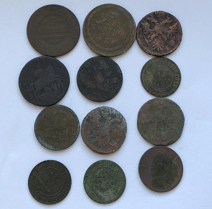 Комплект старых монеты царской России