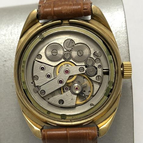 Мужские наручные часы Слава СССР массивные позолота